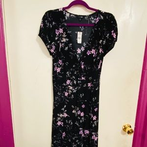 Express Black Floral Wrap Dress